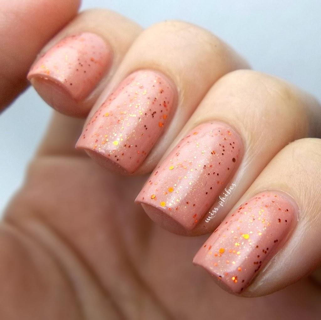Miss Phibes Orange glitters