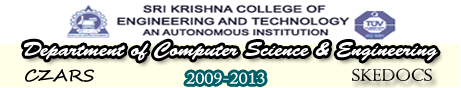SKCET-DEPARTMENT OF COMPUTER SCIENCE & ENGINEERING