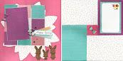 Little Bunny Dreamer Scrapbook Class April 21st 10-noon