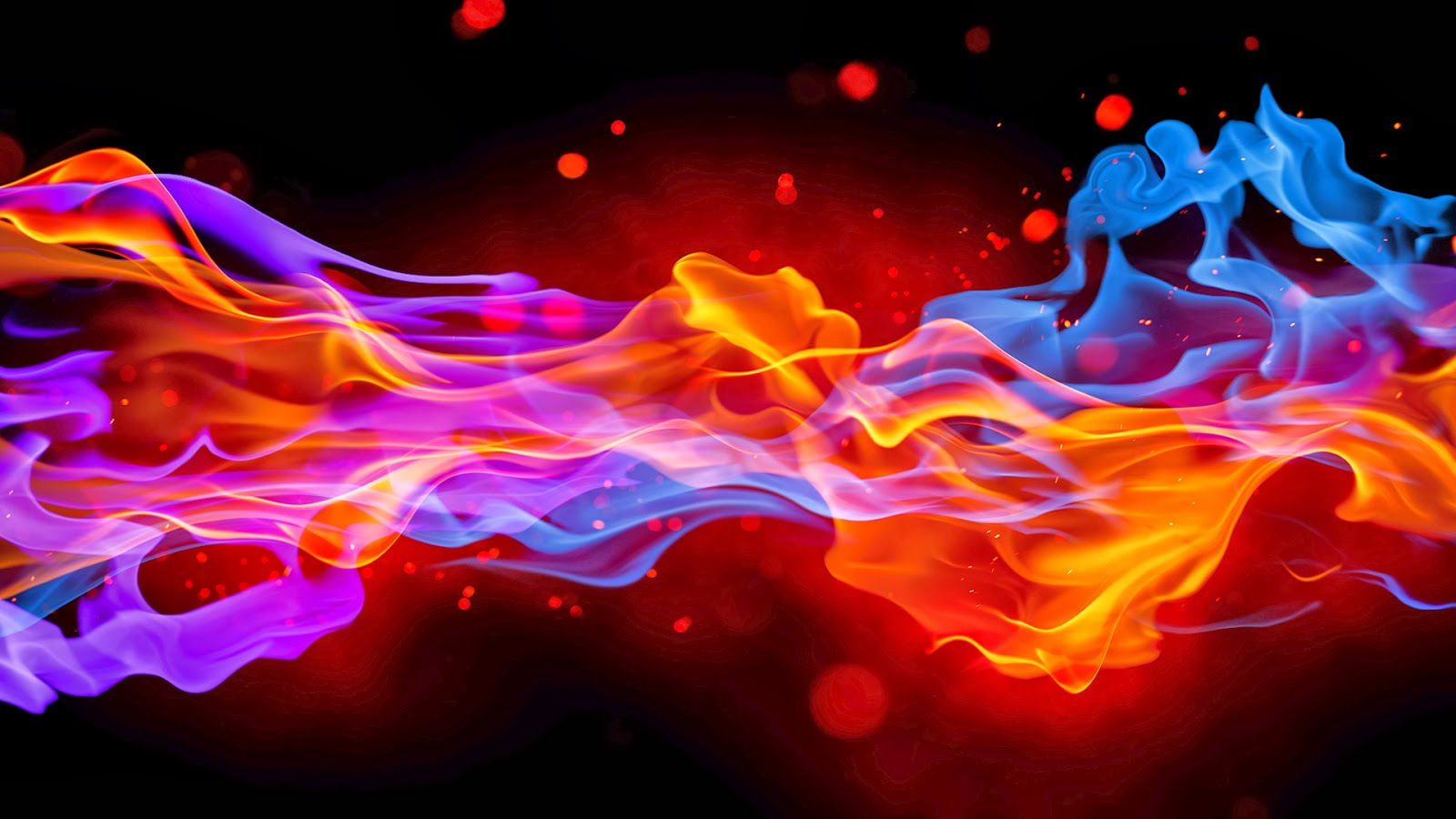 Blue And Red Fire
