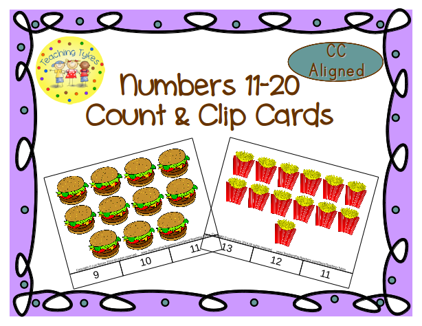 https://www.teacherspayteachers.com/Product/Numbers-11-20-Count-and-Clip-Cards-Common-Core-Aligned-1040024