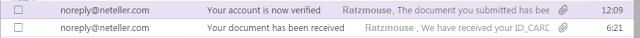neteller verification email