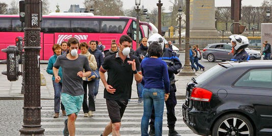 rester un jogger dans la pollution