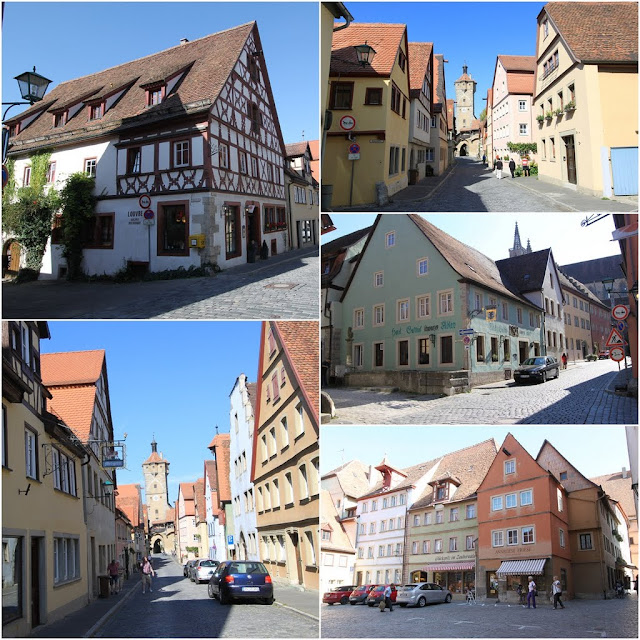 More unique design and structure of houses in Rothenburg, Germany