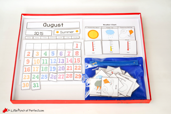 Kids Weather Calendar : Cute free printable calendar for circle time with kids