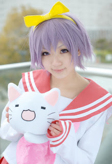 Aka cosplay as Tsukasa Hiiragi from Lucky Star