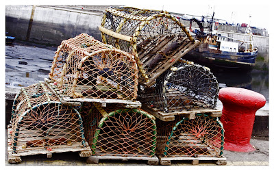 lobster pots in harbour