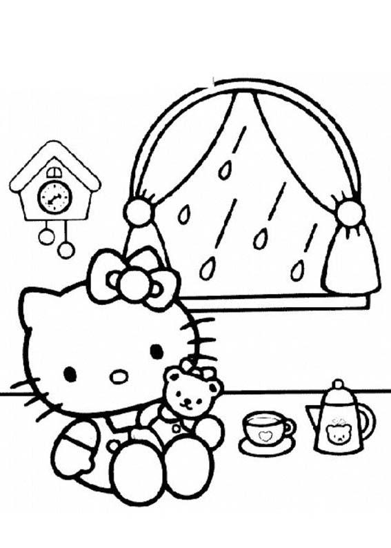 Desenhos Para Colori Hello Kitty Para Meninas desenhar
