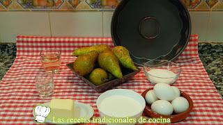 Receta fácil de flan de pera
