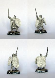 Eomer Marshal of Riddermark konwersja modelu pieszego, masa modelarska miliput biały.