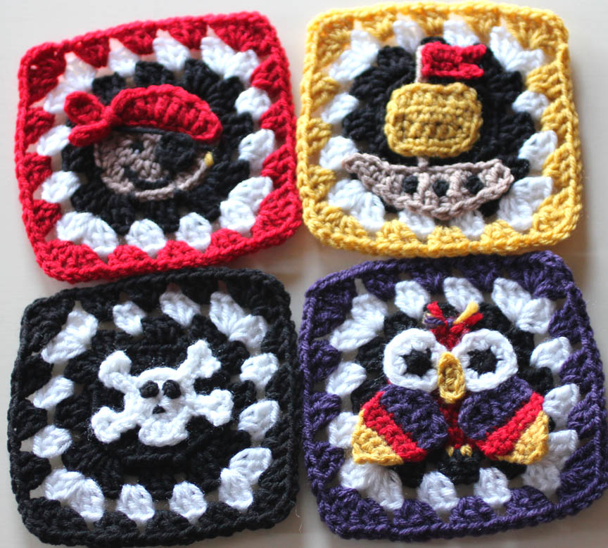 Pirate Granny Squares Crochet Patterns Repeat Crafter Me