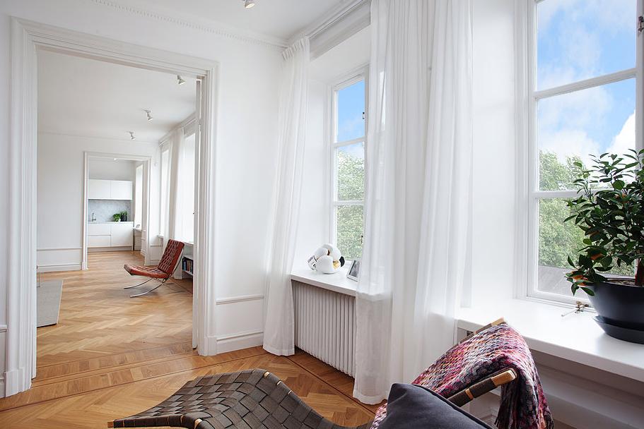 Gardiner Vardagsrum Inspiration : Studio karin hÄnga gardiner i sekelskiftesvÅning
