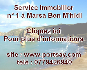 Service immobilier n° 1 à Marsa Ben M'hidi ,Tlemcen