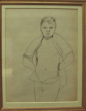 Francis Bacon Portrait by Lucian Freud  from National Portrait Gallery