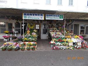 Florist Shop outside Zentralfriedhof  cemetery in Vienna.