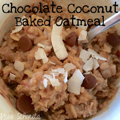 Chocolate Coconut Baked Oatmeal Teacher Breakfast