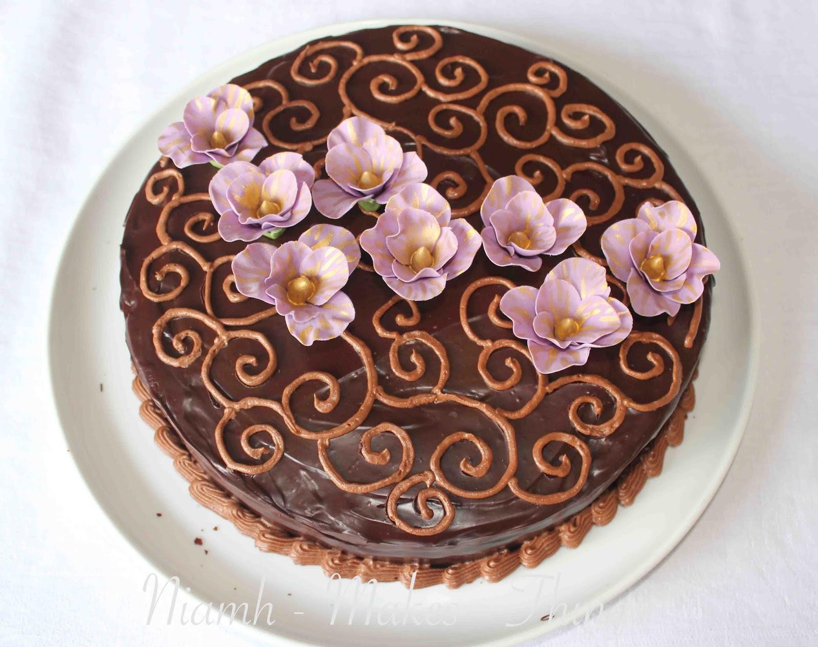 Chocolate Fudge Cake Decoration Ideas : Niamh-makes-things: Chocolate Fudge Cake