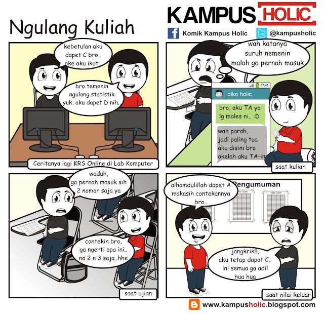 #052 cerita komik mahasiswa Ngulang kuliah