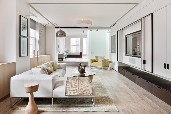 Fruidelicious minimalist loft interior in new york for Cooper apartments