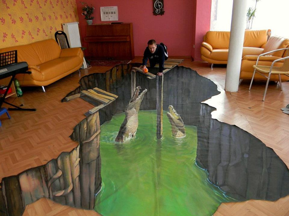 Simple life 3d street art for Floor 3d painting