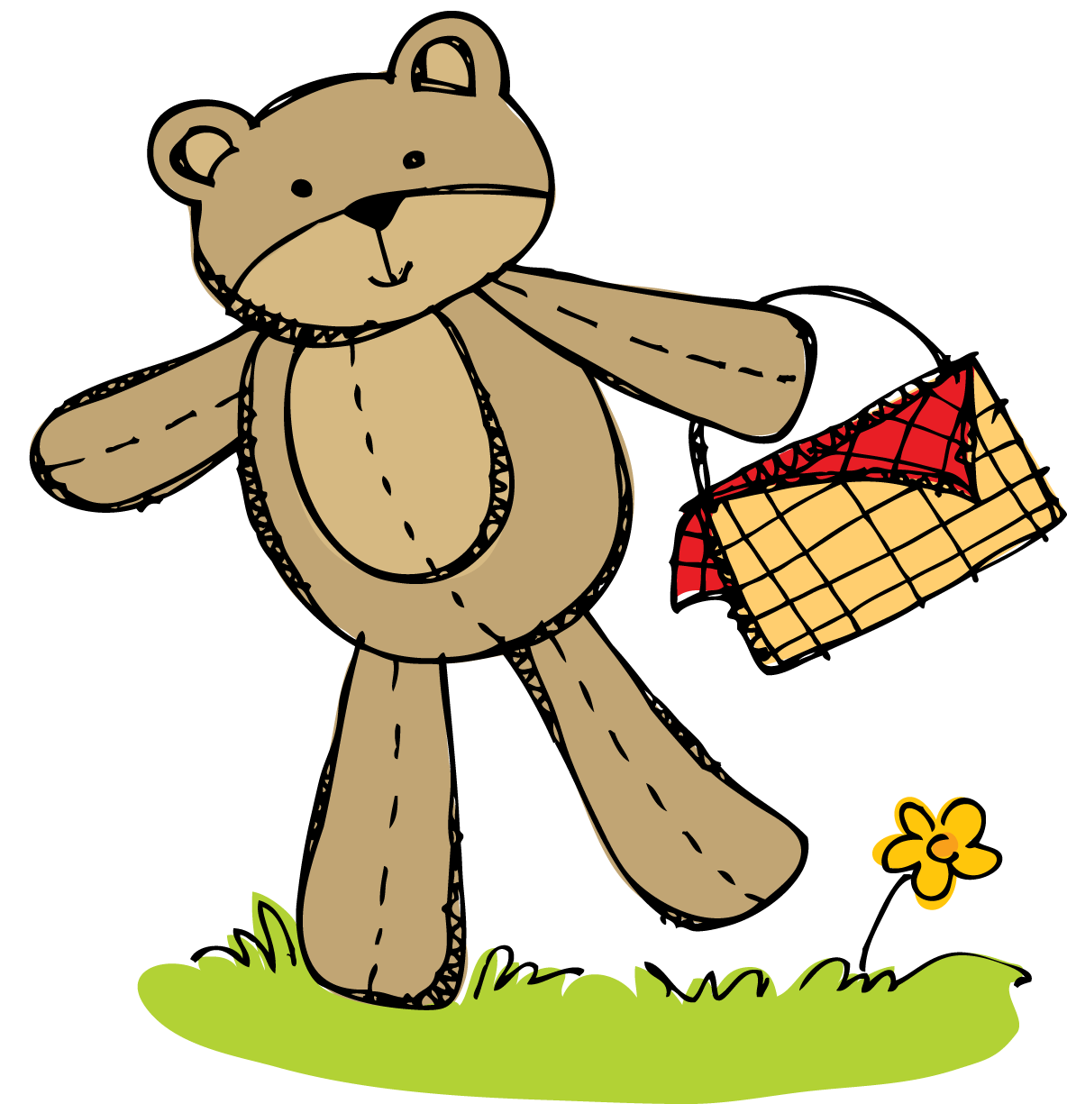 Busy Bees: Freebie...Teddy Bear Picnic Invitation and April Math ...