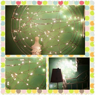 fairy star lights in snowflake collage