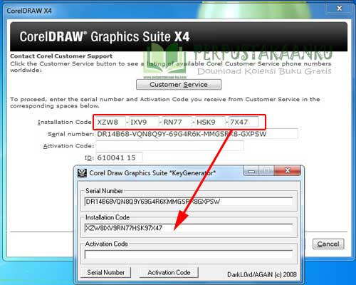 corel draw x4 serial number and activation code