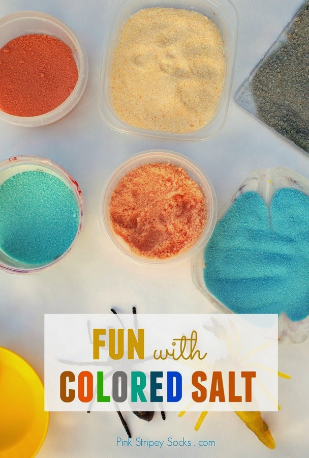 3 ways to have fun with colored salt