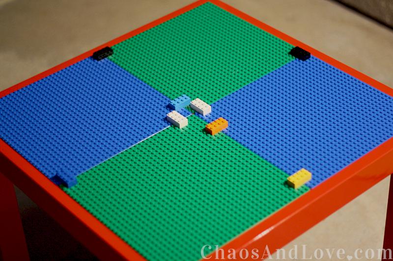 diy 4 tables customiser pour ranger les lego initiales gg. Black Bedroom Furniture Sets. Home Design Ideas