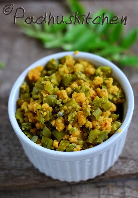 Kothavarangai Paruppu Usili-Cluster Beans Paruppu Usili