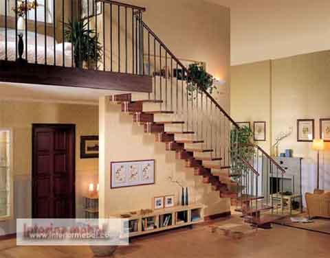 Contoh model desain tangga rumah minimalis blog interior - Stairs design inside house ...