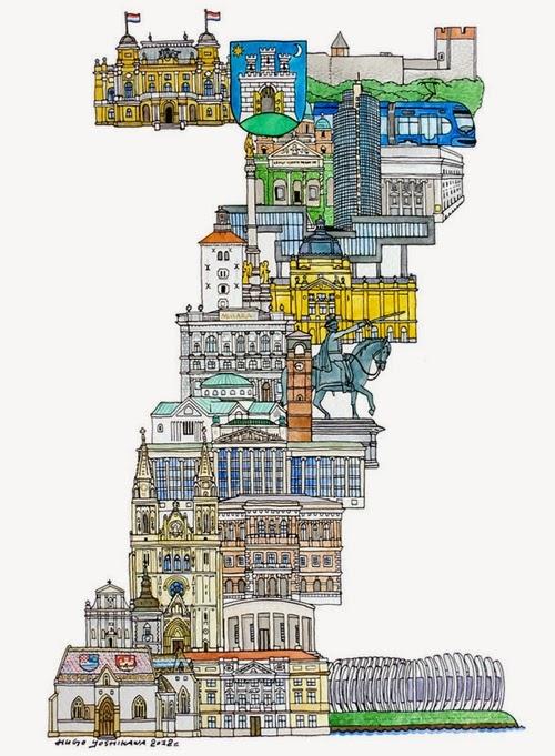 26-Z-Zagreb-Croatia-Hugo-Yoshikawa-Illustrated-Architectural-Alphabet-City-Typography-www-designstack-co