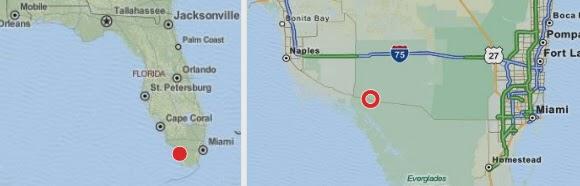 Karte Big Cypress zwischen Naples und Miami