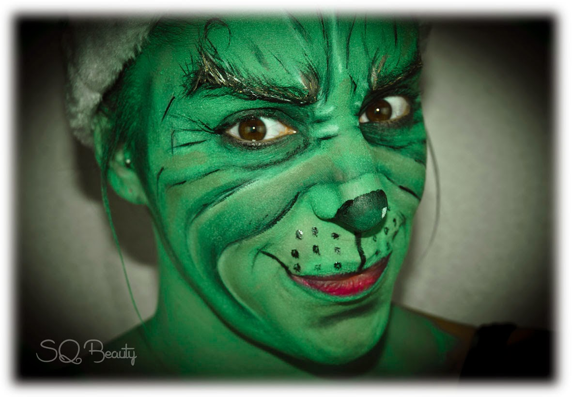 Maquillaje The Grinch Silvia Quiros SQ Beauty makeup