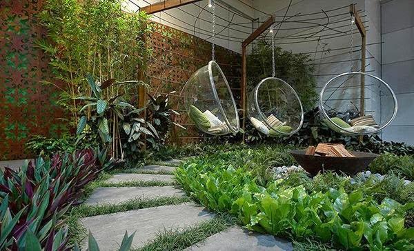 Gambar Taman Belakang Rumah Dengan Desain Modern