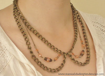 Collar cuello Peter Pan de cadenas / Peter Pain collar chain necklace / Collier col Claudin