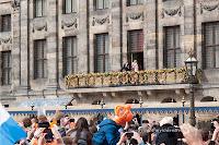 Beatrix, Willem-Alexander and Maxima on the balcony