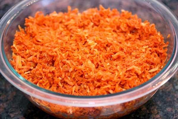 Dehydrated Carrots Soaking