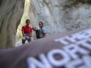 Con Ramon y Tony trepando en la Rif d'Oriol