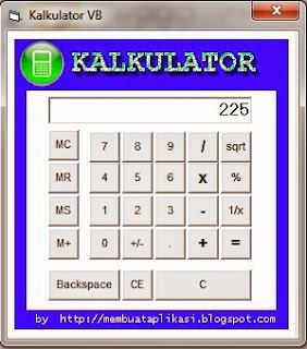 Program Kalkulator Lengkap Visual Basic 6.0