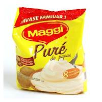 paquete de pure instantaneo, patatas en polvo o escamas para preparar pure