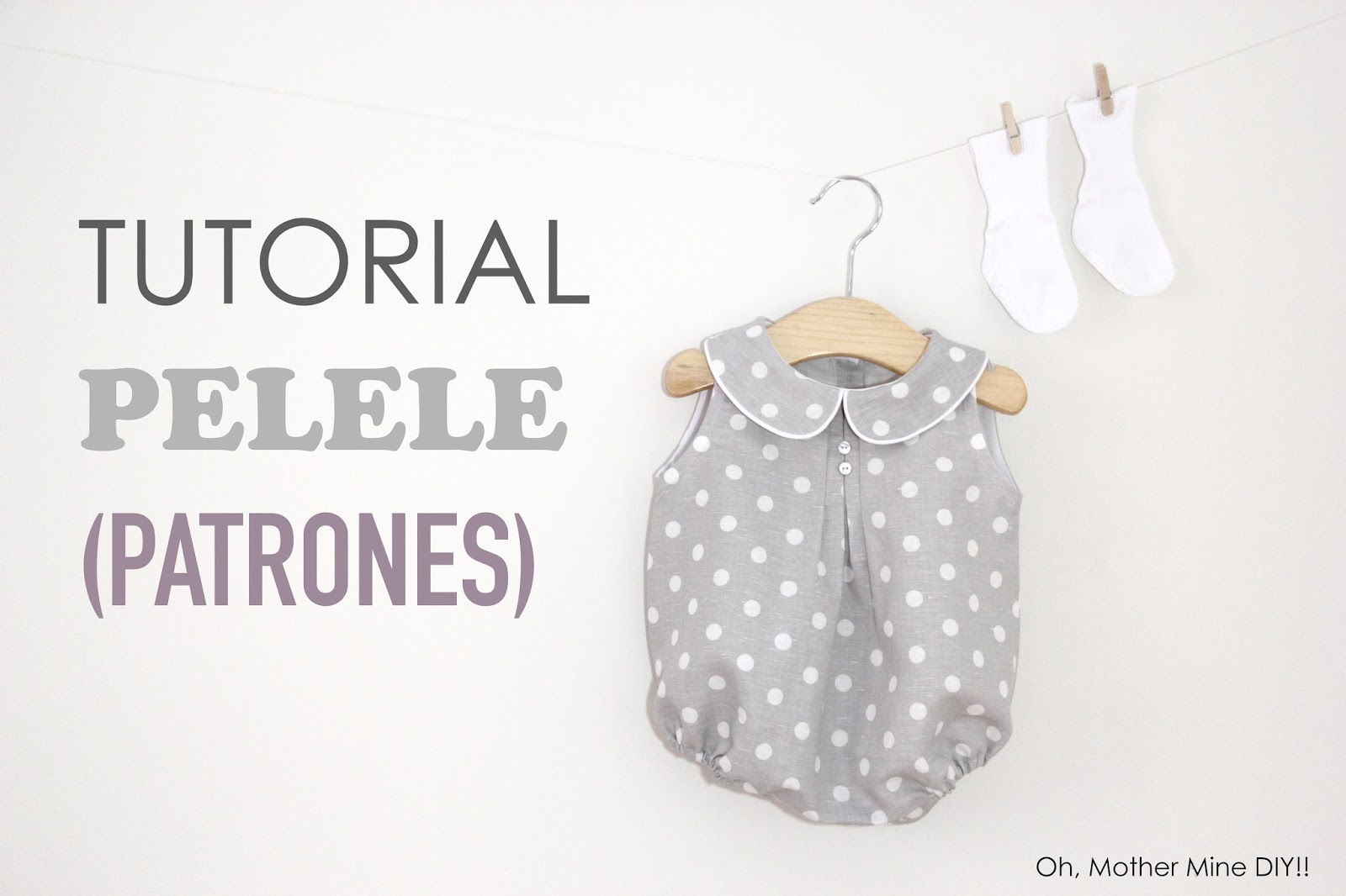 Tutorial y patrones: Pelele de lunares para bebe DIY - Handbox Craft ...
