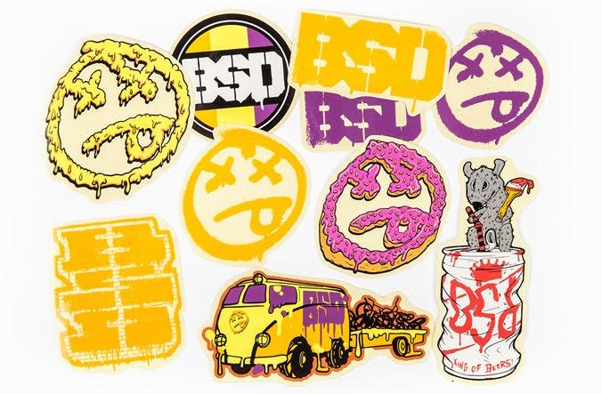 Pack de stickers BSD 2016 $18.000