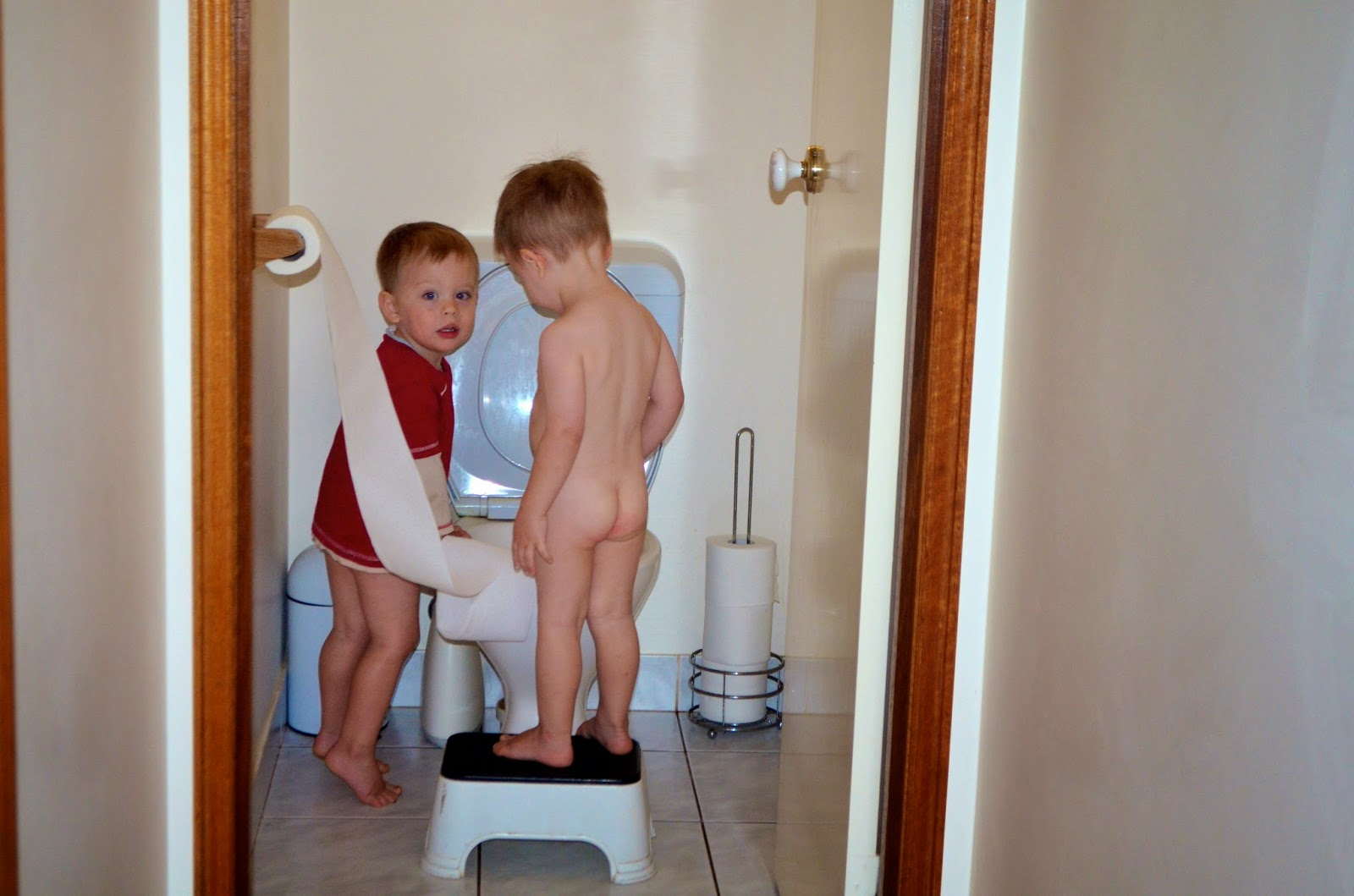 Potty training triplets
