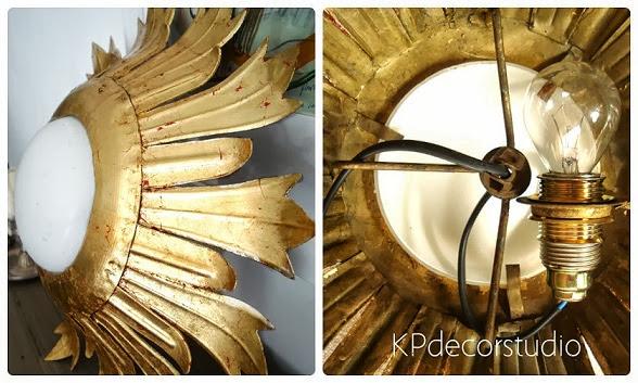 Comprar aplique vintage decorativo y original dorado con pan de oro