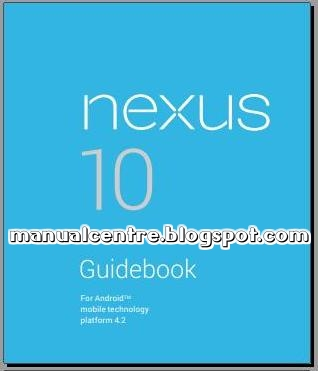 GOOGLE / SAMSUNG NEXUS 10 MANUAL COVER