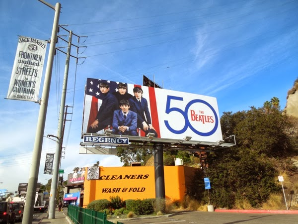 The Beatles 50th anniversary billboard Sunset Strip