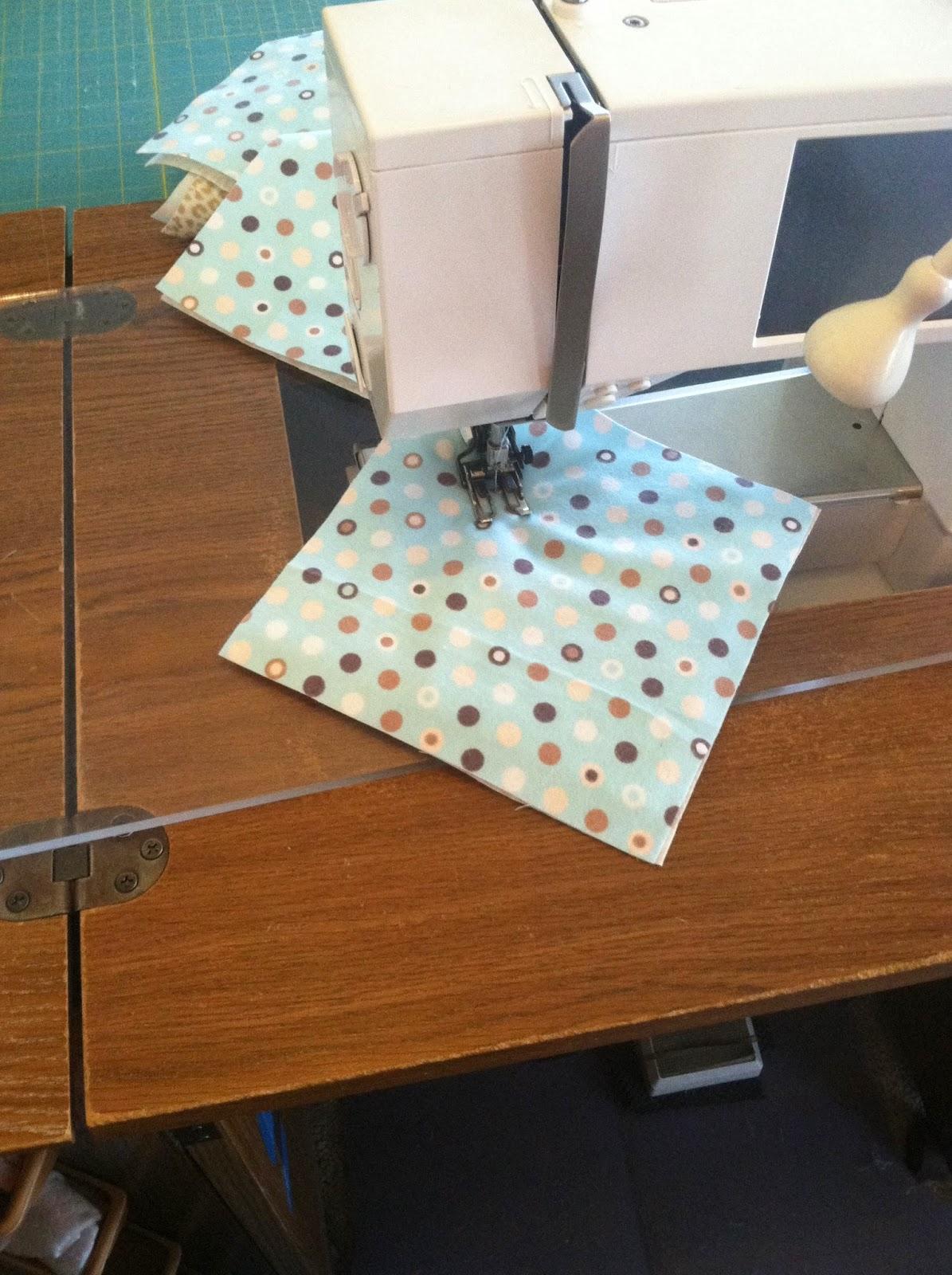 Rag Quilt - Chain Piecing