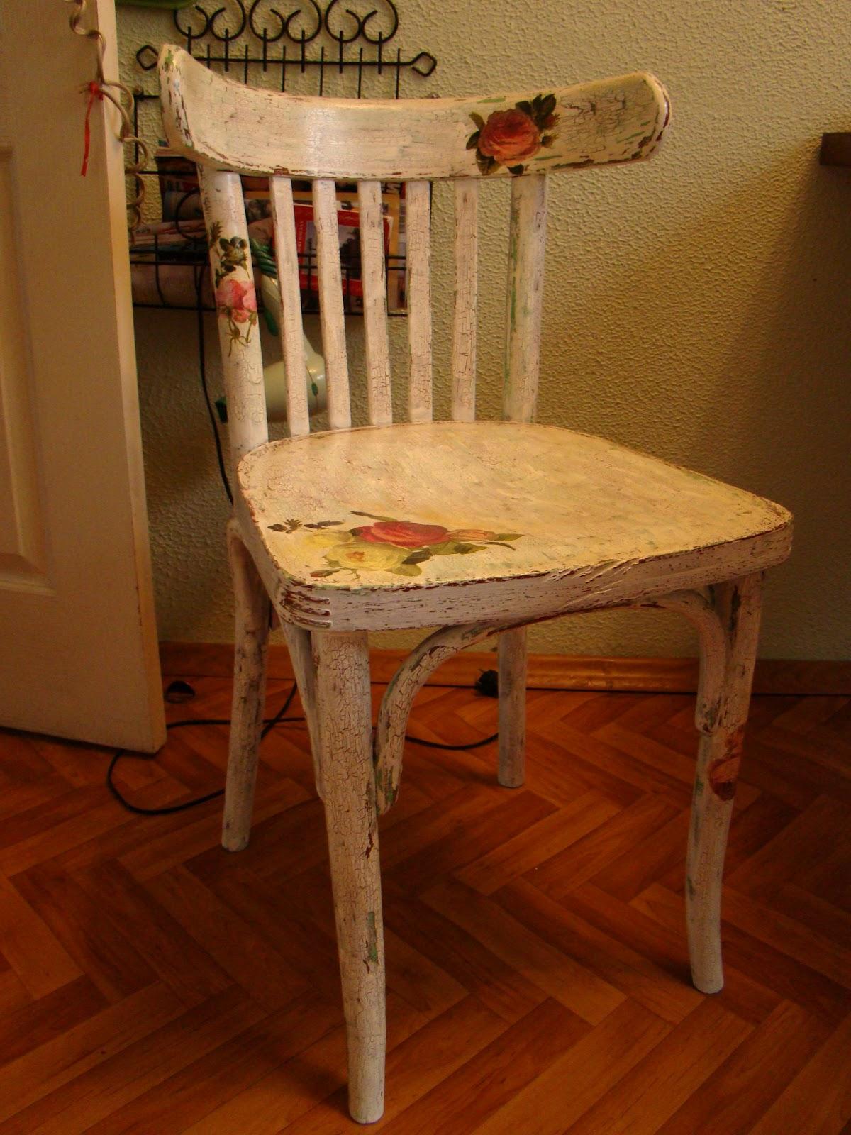 Декупаж старый стул своими руками