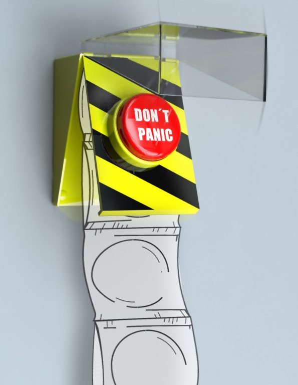 Don 39 T Panic Condom Dispenser Rafael Morgan Industrial And Product Design Studio
